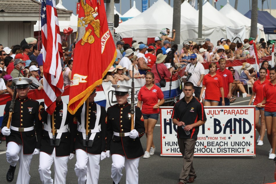 Huntington Beach Parade - US Marine Corp Honor Guard