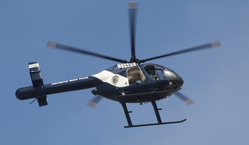 Huntington Beach Parade - Huntington Beach Police Helicopter