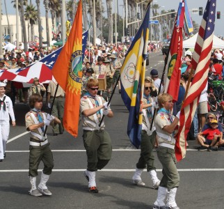 Huntington Beach Parade - Boy Scout Honor Guard