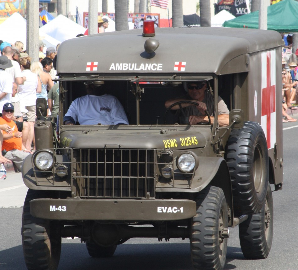 Huntington Beach Parade - US Marine Corp Ambulance