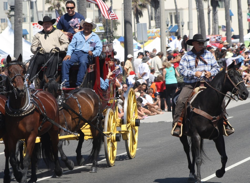 Huntington Beach Parade - Wells Fargo Horse Drawn Wagon