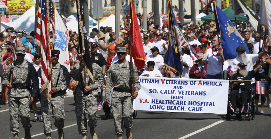 Huntington Beach Parade - US Military Vietnam Veterans VA Hospital