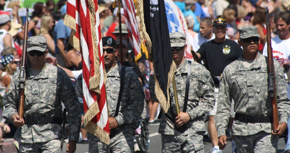 Huntington Beach Parade - US Military Honor Guard