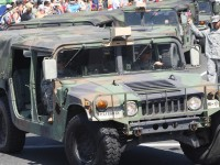 Huntington Beach Parade - US Military Veterans Humvees
