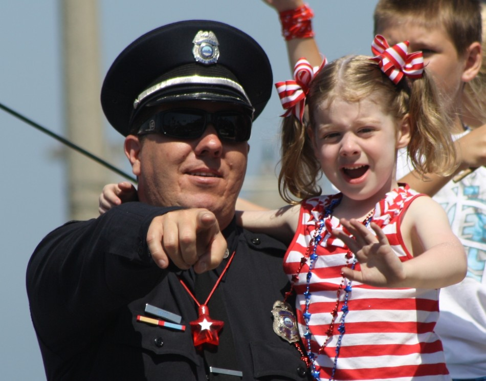 Huntington Beach Parade - Huntington Beach Fire Captain Darren Witt