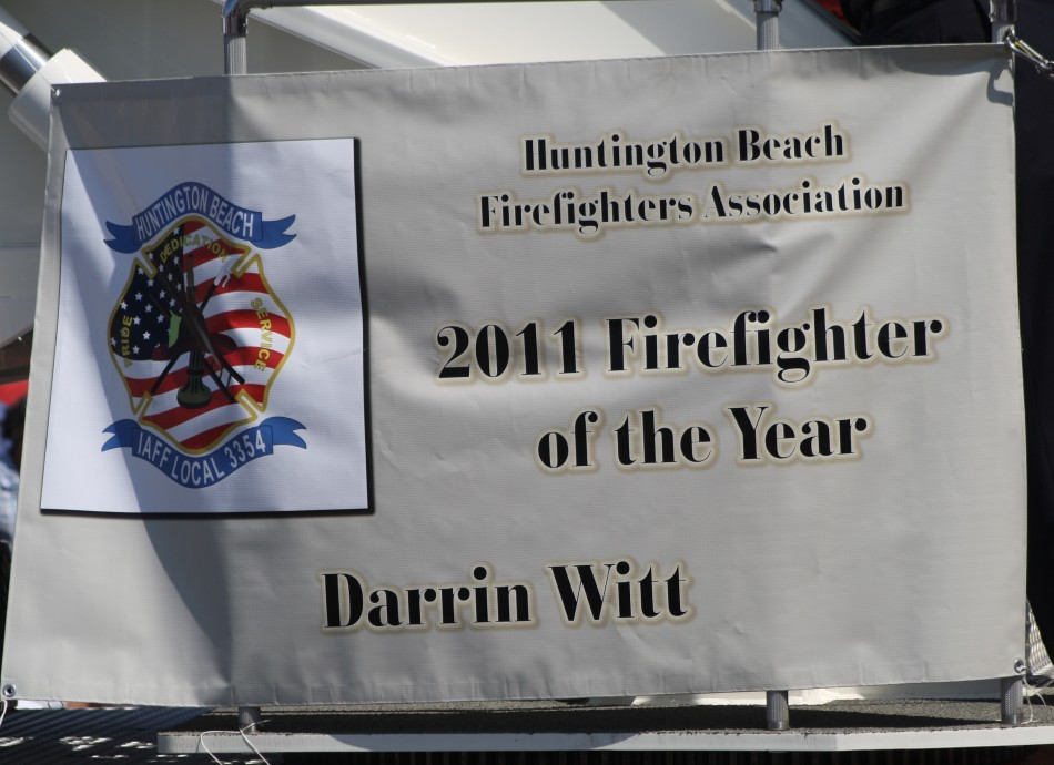 Huntington Beach Parade - Huntington Beach Firefighter of the Year Fire Captain Darren Witt