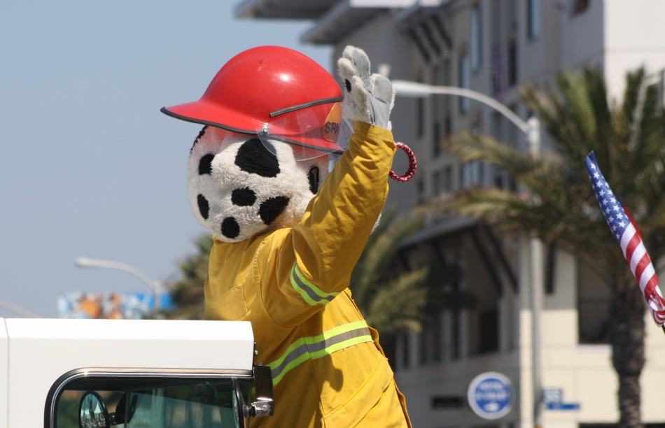 Huntington Beach Parade - Sparky the Fire Dog Huntington Beach Fire Department