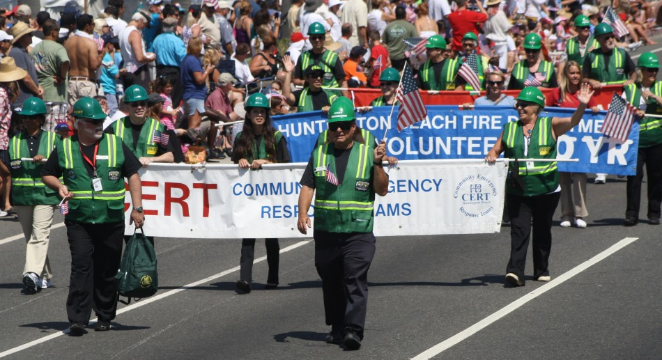 Huntington Beach Parade - Fire Department Volunteers Community Emergency Response Teams