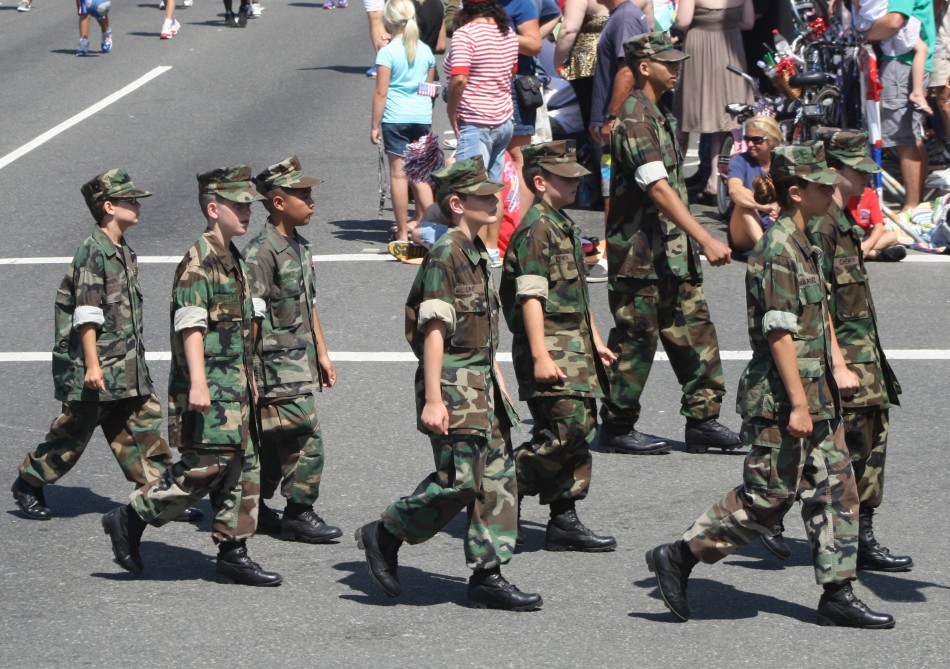 Huntington Beach Parade - Children Military Uniforms