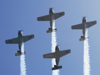 Huntington Beach Parade - Vintage US Air Force Airplanes