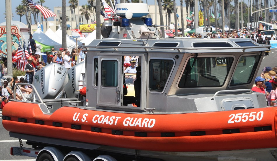 Huntington Beach Parade -  US Coast Guard Defender Class Boat