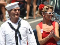 Huntington Beach Parade - Noble Cause Foundation Vintage World War Two Sailor Uniform