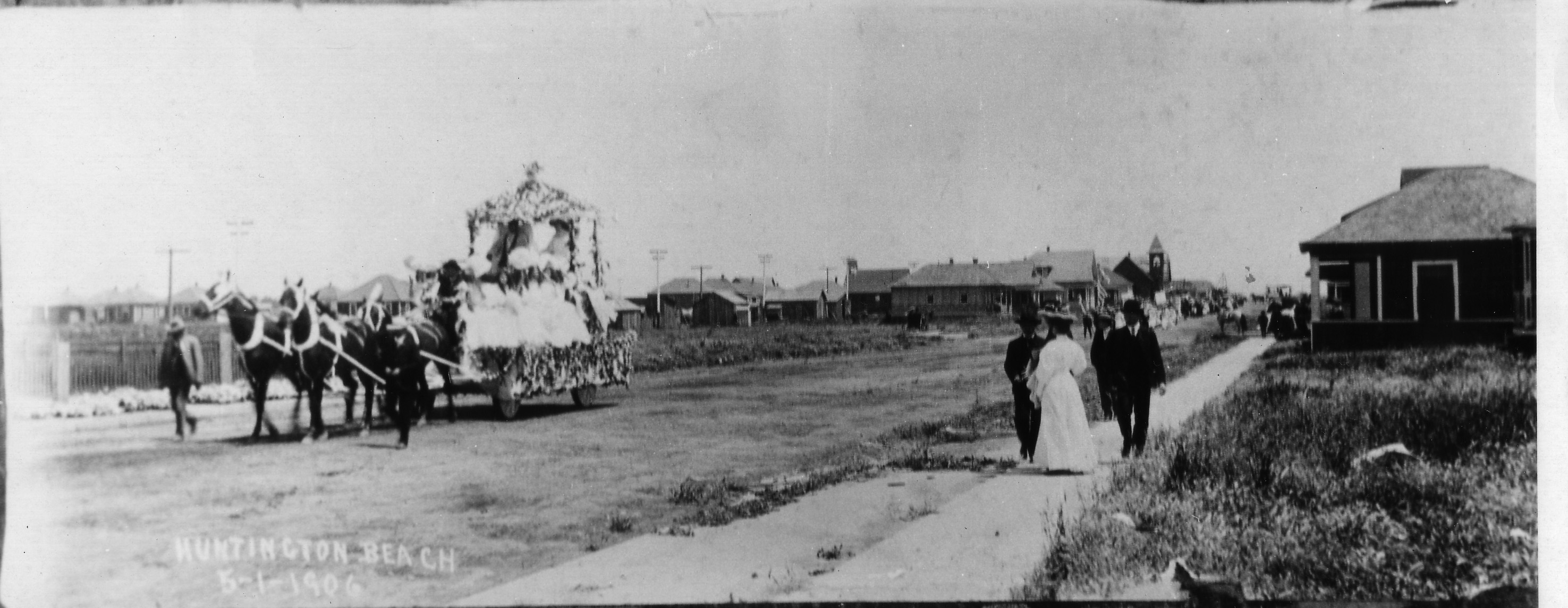 Huntington Beach 4th of July Parade circa 1906