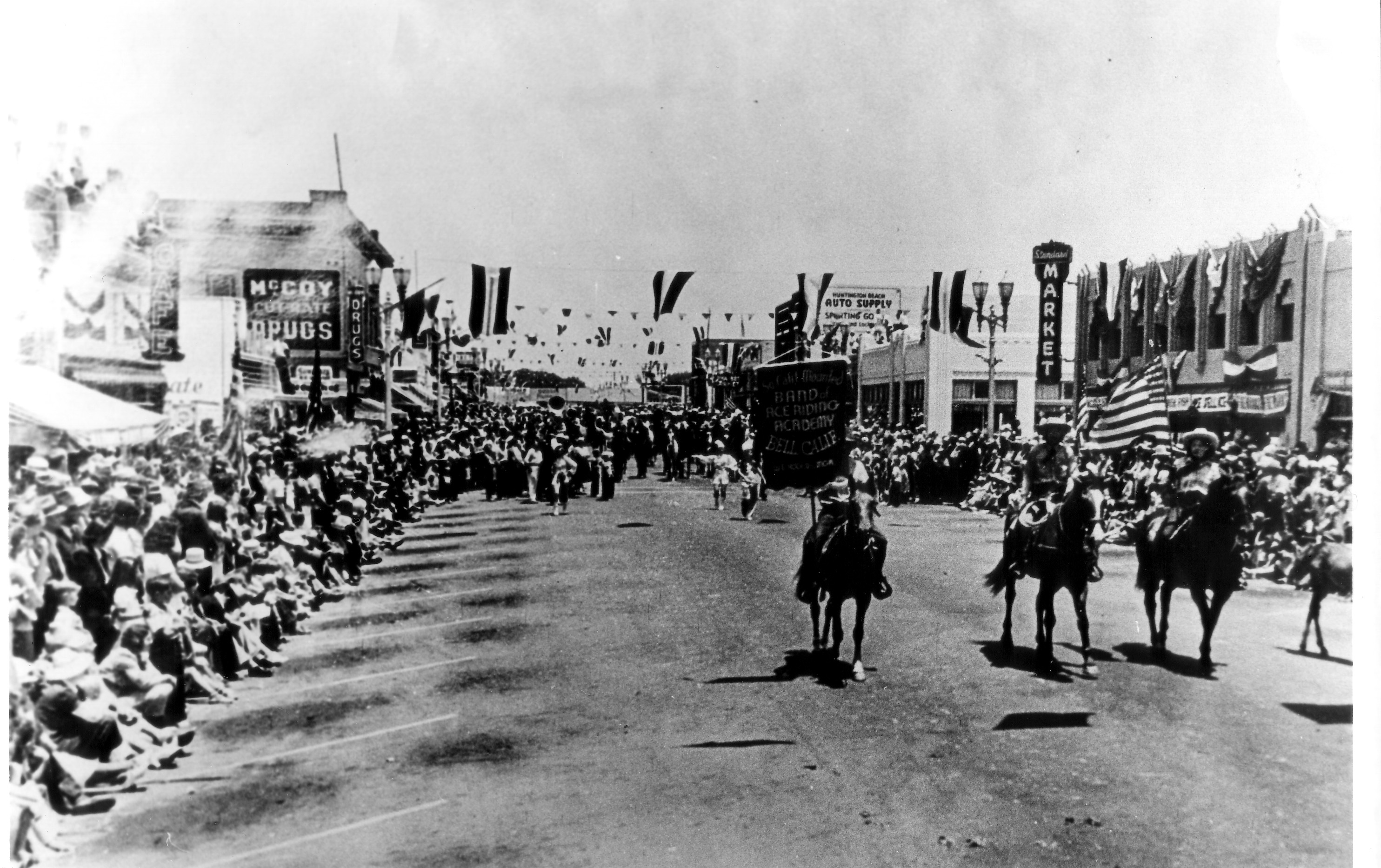 Huntington Beach 4th of July Parade circa 1935