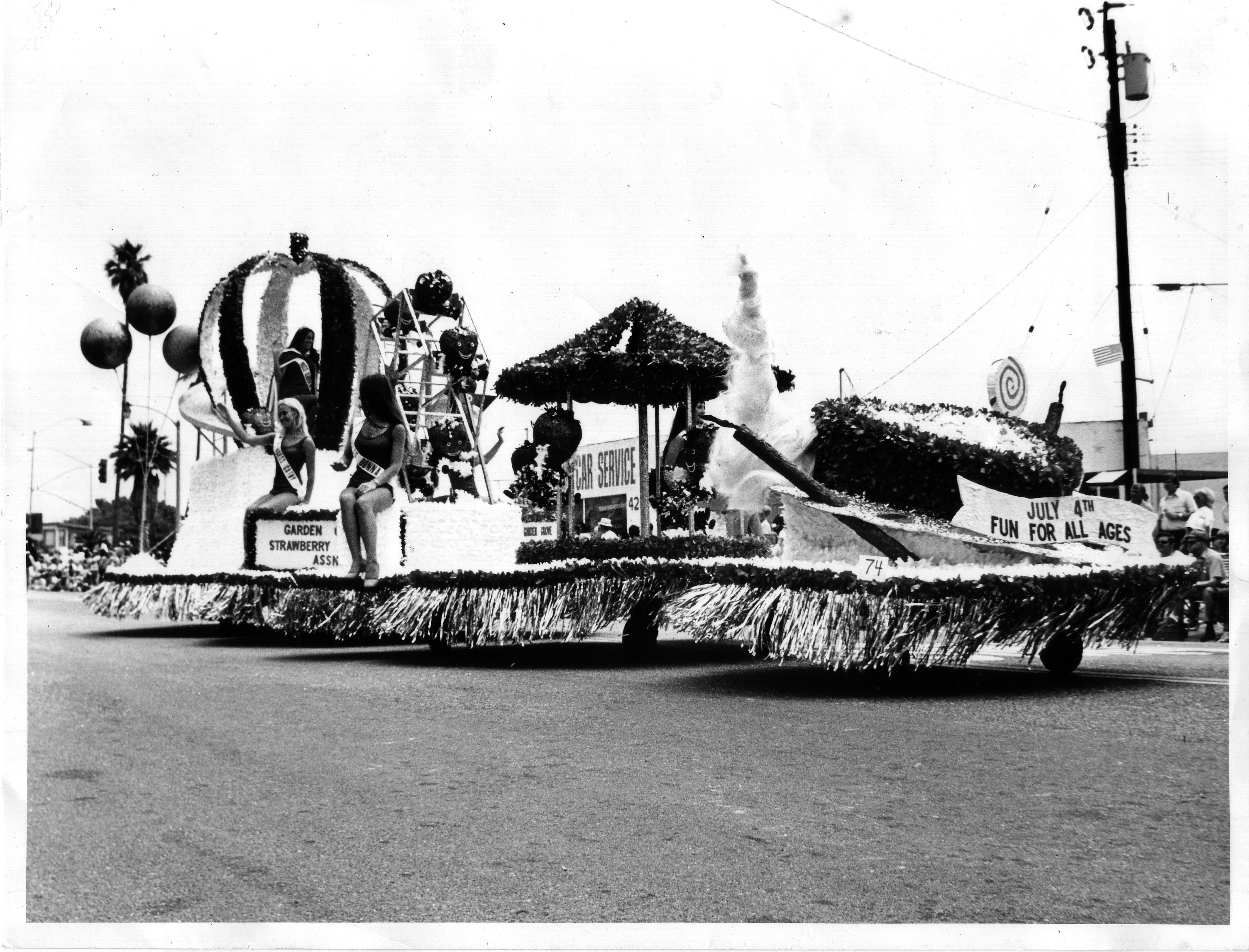Huntington Beach 4th of July Parade 1973